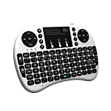 Rii i8+ Mini Wireless 2.4G Back Light Touchpad Keyboard with Mouse for PC/Mac/Android (White)