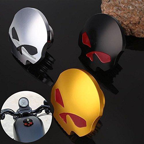 Rabusion Cool Motorcycle CNC Aluminum Skull Eye Carburante gasolio Serbatoio Tappo per Harley Davidson