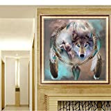 MEXUD-DIY Stitch Craft Needlework with Wolf Totem Diamond Embroidery Diamond Painting for Home Decor