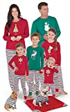 PajamaGram Holiday Stripe Matching Family Pajama Set, Men Medium, Red/Green