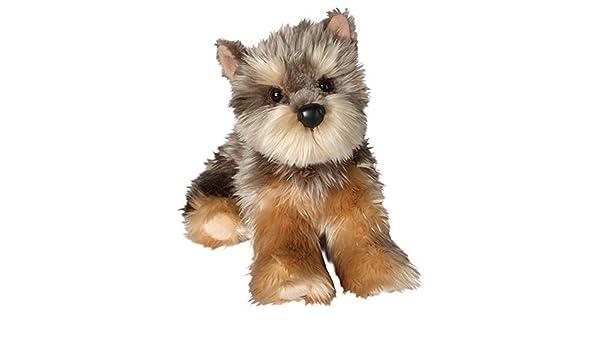 Amazon.com: La caresse de Douglas joue 12 le chien tricolore de la peluche YETTIE YORKIE: Toys & Games