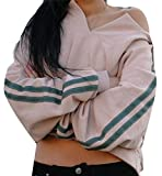 YUNY Women's Sexy Long Sleeve Hoodie Crop Top Pullover Sweatshirt Khaki XXS