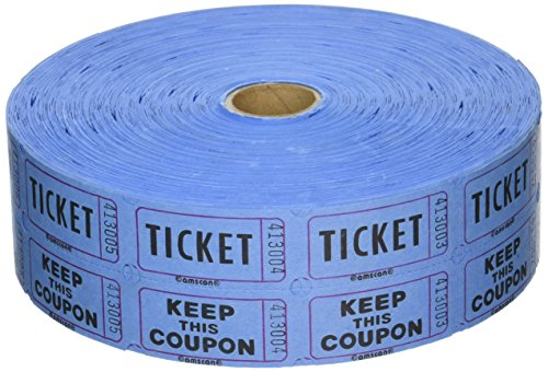 Two-Tiered Tear Off Coupon Raffle Tickets Party Supply (1 Piece), Pink, One Size (Tear Off Tickets)