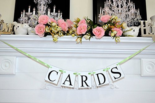 Any Birdcage - Wedding Cards Banner, Wedding Garland, Cards Banner, Cards sign, Cards decoration, Rustic Cards Suitcase Sign- You Pick The Colors