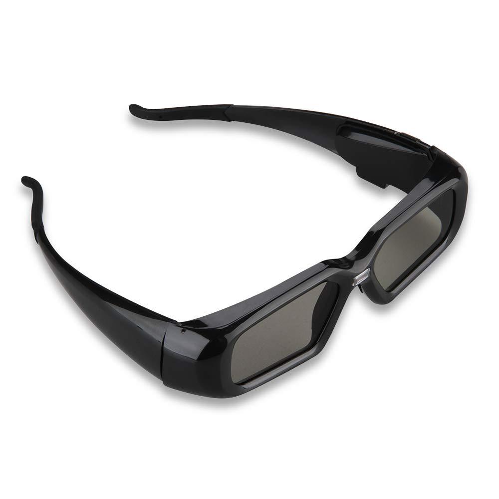 XU-XIAZHI,Gafas de obturación 3D DLP-Link activas para Optama(Color:Negro)