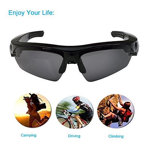AMENER Upgraded Wireless Music Bluetooth Sunglasses Headset Headphone for iPhone X 8 7 6 6s Plus Samsung Galaxy S8 S7 S6 Note 8 7 6 HTC LG and All Smart - Bt Sunglasses