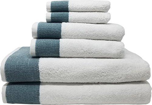 Venice 6 Piece Luxury 100 Percent Turkish Combed Cotton Towel Sets (Dark Turquoise)