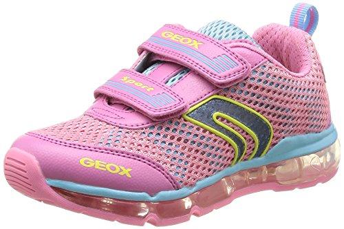 Geox Junior Android Girl 2 Sneaker (Toddler/Little Kid/Big Kid), Pink/Sky, 26 EU (9 M US Toddler)