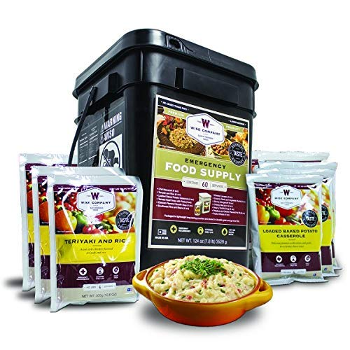 Wise Company Emergency Food Supply, Entree Variety, 25-Year Shelf Life, 60 Servings (Good Date Meals To Cook At Home)