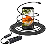 10m Wireless Endoscope Wifi Camera KEBIDU 1200P Wireless Borescope Inspection With 8mm Lens 8 LED Lights USB Waterproof Rigid Snake Camera IP68 Waterproof 2.0 Megapixel HD for Android and IOS iPhone, Tablet, PC (33 Feet)