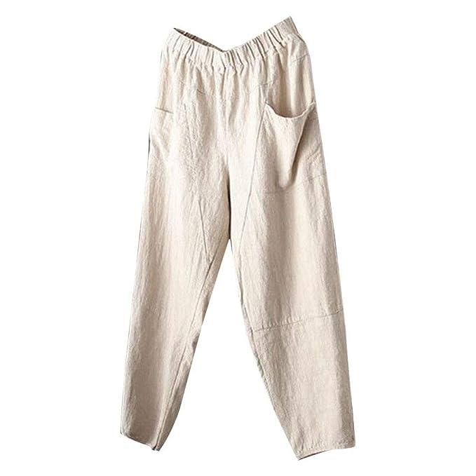 newest b8d55 11a45 FeiBeauty ☀‿☀ Pantaloni Lino Uomo Puro Pantaloni Lino Uomo ...