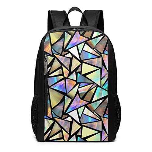 Iridescent Triangles Laptop Backpack Business Travel Computer Bags School Bookbag Notebook for Women Men