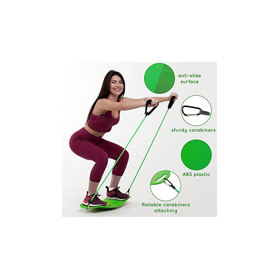 Solofit Balance Fit Board with Resistance Bands