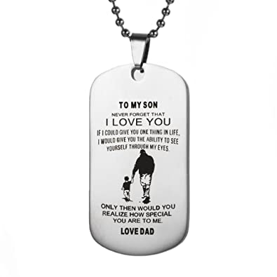 Amazon hot sale dad mom to my son dog tag necklace military dad mom to my son dog tag necklace military fathers day family love solutioingenieria Image collections