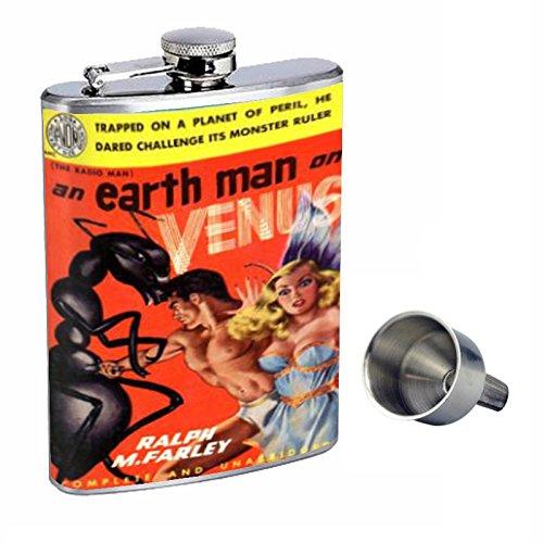 【爆買い!】 Earth Man pin-up Venus pin-up Perfection Perfection inスタイル8オンスステンレススチールWhiskey Flask with d-065 Free Funnel d-065 B015QLF55M, ドレスショップJewel:6590ef57 --- pathlab.officeporto.com