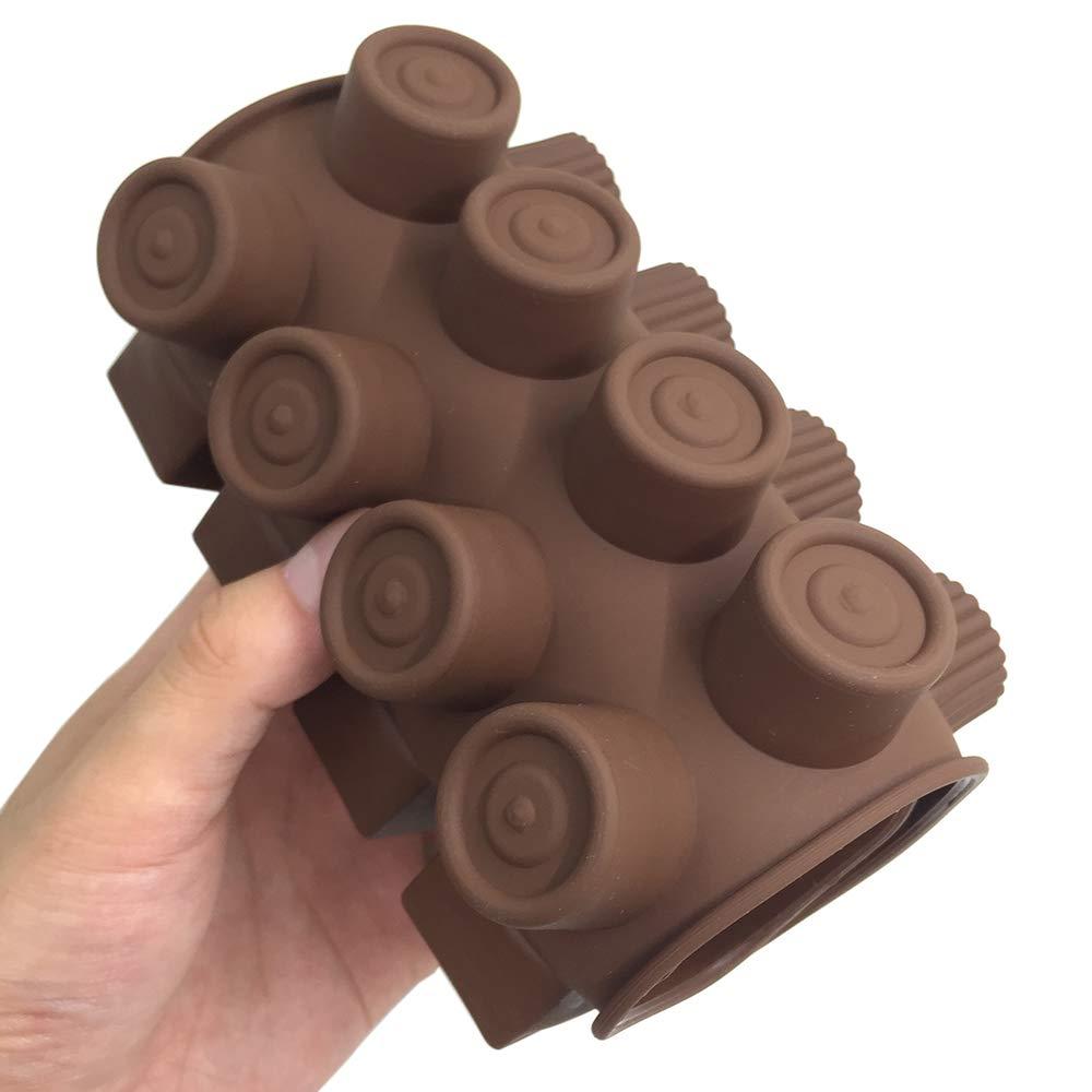 antiaderente break-apart proteine ed energia bar cubetti di ghiaccio Candy muffa cucina stampo da forno 4/pezzi in silicone per il cioccolato