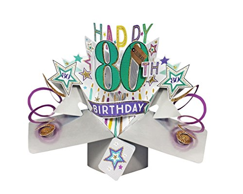 Happy 80th Birthday Pop Up Card