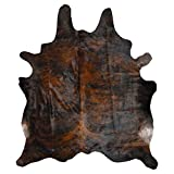 Decohides Cowhide Rug, Dark Brindle