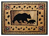 Champion Rugs Rustic Lodge Log Cabin Bear and Cub Area Rug (7 Feet 7 Inch X 10 Feet 6 Inch) Review