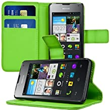 kwmobile Elegant synthetic leather case for the Huawei Ascend Y300 with magnetic fastener and stand function in green