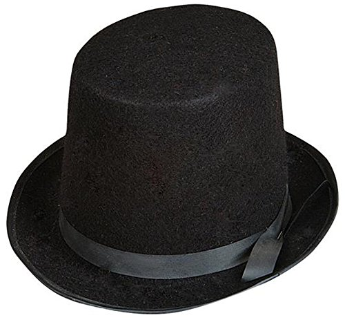 Rich Uncle Pennybags Costume (Dozen Black Magician Butler Formal Gentleman Top Hat Costume Accessory)