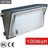 12000lm Super Bright 100Watt LED Wall Pack Light,350-400W HPS MH Bulb Replacement,Outdoor LED Lighting Fixture for Building Home Security and Walkways (100Watt)