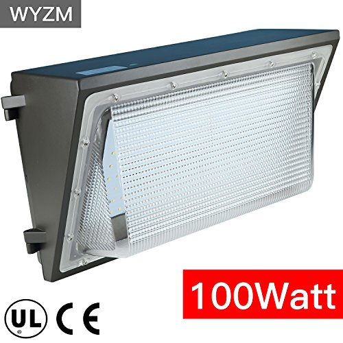 Price comparison product image 12000lm Super Bright 100Watt LED Wall Pack Light, 350-400W HPS MH Bulb Replacement, Outdoor LED Lighting Fixture for Building Home Security and Walkways (100Watt)