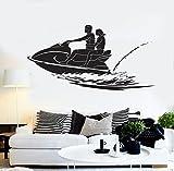 ski height chart - BorisMotley Wall Decal Jet Ski Aquabike Sports Vinyl Removable Mural Art Decoration Stickers for Home Bedroom Nursery Living Room Kitchen
