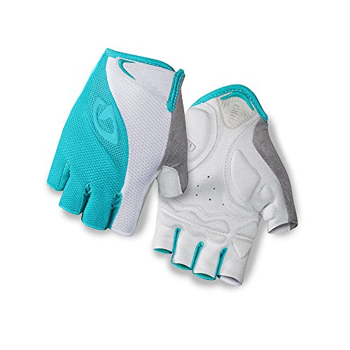 Gloves Cycling Premium (Giro Tessa Gel Womens Cycling Gloves Turqoise/White Large)