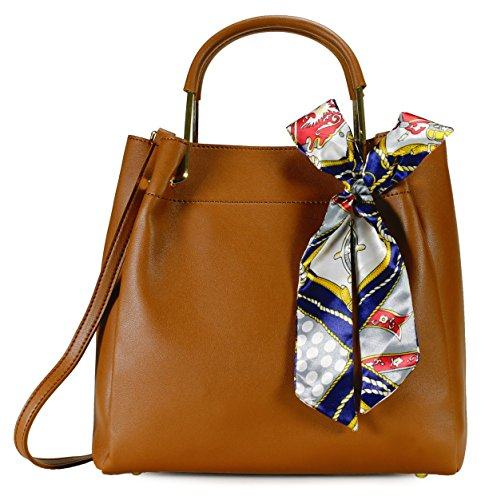 Scarleton Chic Bow Satchel H201604 - Brown - Brown Chic Handbag