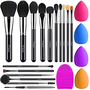 Best Epic Trends 51FSX75TMBL._SS300_ BESTOPE Makeup Brushes 16PCs Makeup Brushes Set with 4PCs Makeup Blender Sponge and 1 Brush Cleaner Premium Synthetic…