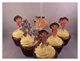12 Dora the ExplorerWAFER Edible Cupcake Cake ToppersStandups