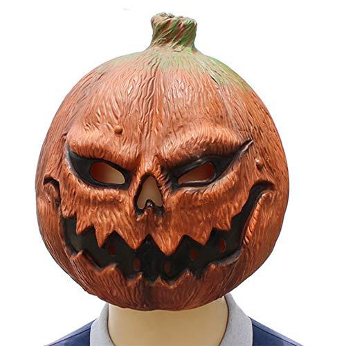 Bsjz Halloween Pumpkin Head Mask Terrorist Fake Mask Latex Dance Dress Plays Decoration ()