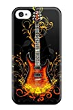 Awesome NXy-1739xjXwBcHo SaundraVillard Defender Tpu Hard Case Cover For Iphone 4/4s- Vector Guitar