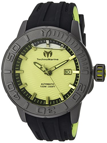 (Technomarine Men's Reef Titanium Automatic-self-Wind Watch with Silicone Strap, Two Tone, 0.85 (Model: TM-516009))