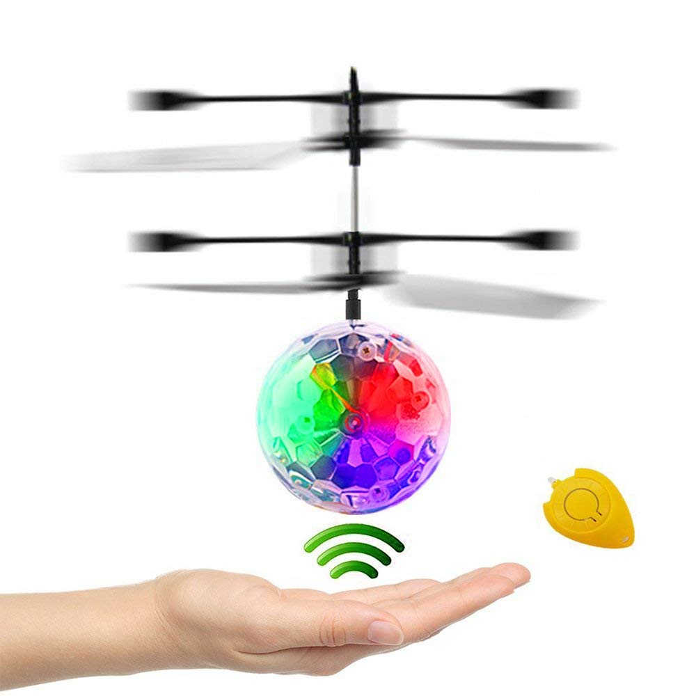 CPSYUB RC Flying Ball Toys, Kids Boy Toys Flying Toys Hand Controlled Drone Heliball Built-in Shining LED Lighting, Kids Toys for Boys Girls Age of 4,5,6,7,8-16 Outdoor and Indoor Use by CPSYUB