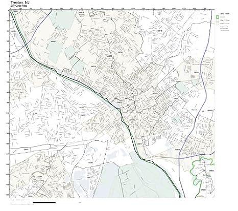 Trenton Nj Zip Code Map Amazon.com: ZIP Code Wall Map of Trenton, NJ ZIP Code Map  Trenton Nj Zip Code Map