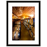 eFrame Fine Art | Wine Barrel Cellar, Cape Winelands, Winery South Africa 2 of 2 by Blaine Harrington 16'' x 24'' Framed Wall Art for Wall or Home Decor (Black, Brown, White Frame or No Frame)