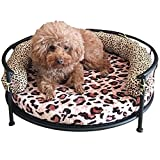 Creation Core Stylish Leopard Print Pet Round Iron Bed with Cushion Mat(L) Review