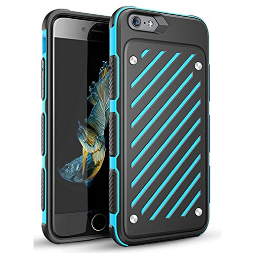 Twill Block - iPhone 6s Case, Slim Fit Twill Block Anti-slip Shockproof iPhone 6s Armor Protective Case Drop Resistant Non-slip Grip Hard Cover Case for Apple iPhone 6 & iPhone 6s 4.7 inch (Blue)
