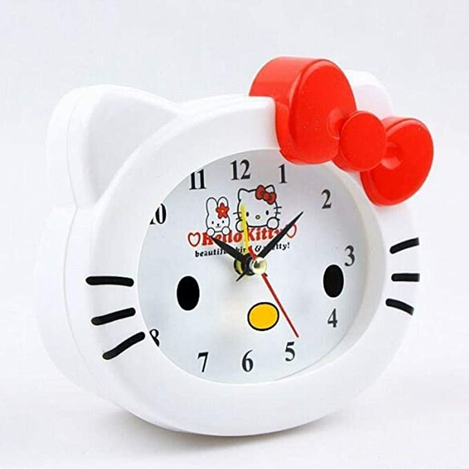 Amazon.com: Kawaii Hello Kitty Reloj despertador de mesa de ...