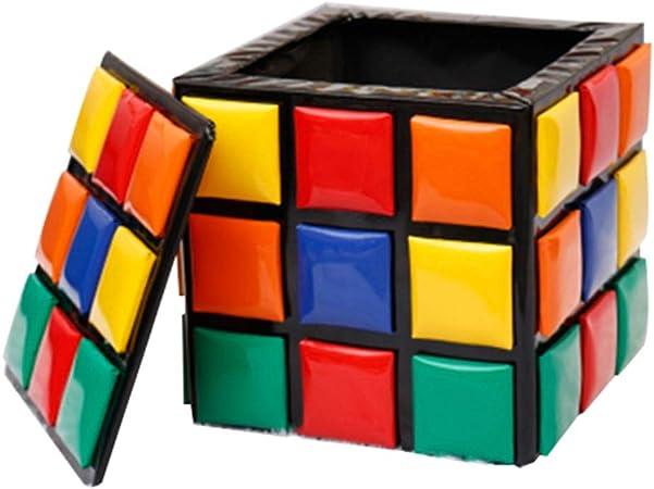 Cubo de Rubik Caja de Juguetes de Almacenamiento Taburete Otomano ...