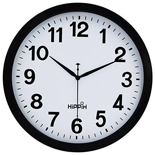 Hippih 12 Inch Silent Non ticking Modern