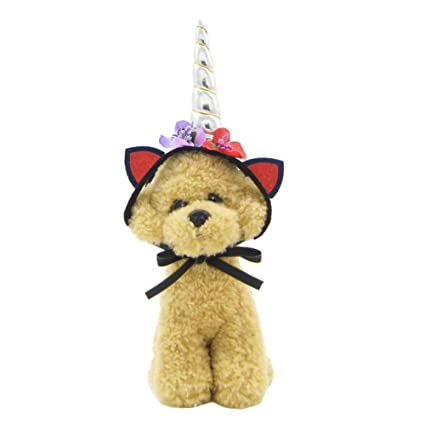 Amazon.com  ZTL Unicorn Headband Hat for Dog Cat Pet Party Cosplay ... f27b9ccd8eb