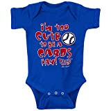 Smack Apparel Chicago Baseball Fans. Too Cute (Anti-Cards) Royal Onesie or Toddler Tee (NB-4T)