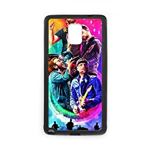 Coldplay Samsung Galaxy Note 4 Cell Phone Case Black Customized Toy pxf005_9665586