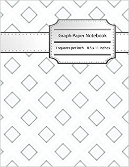 graph paper notebook 1 inch squares blank graphing composition book