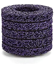 Strip Wheel, 60# Wear Resistance Long Durability 5pcs Purple + Gold Poly Disc for Grinders, Polish for Angel Grinders