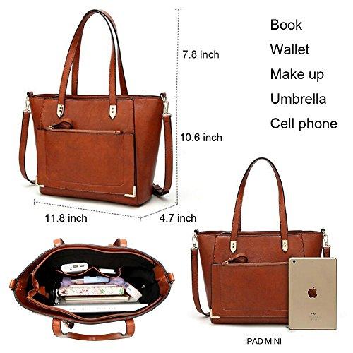 Purses B Women's and handle Stylish Shoulder Satchel Tote QUEENTOO Top Ladies Bags black Designer Handbags Ofqdrafx