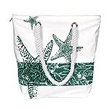Peach Couture 100% Cotton Canvas Beach Handbags Nautical Starfish Design
